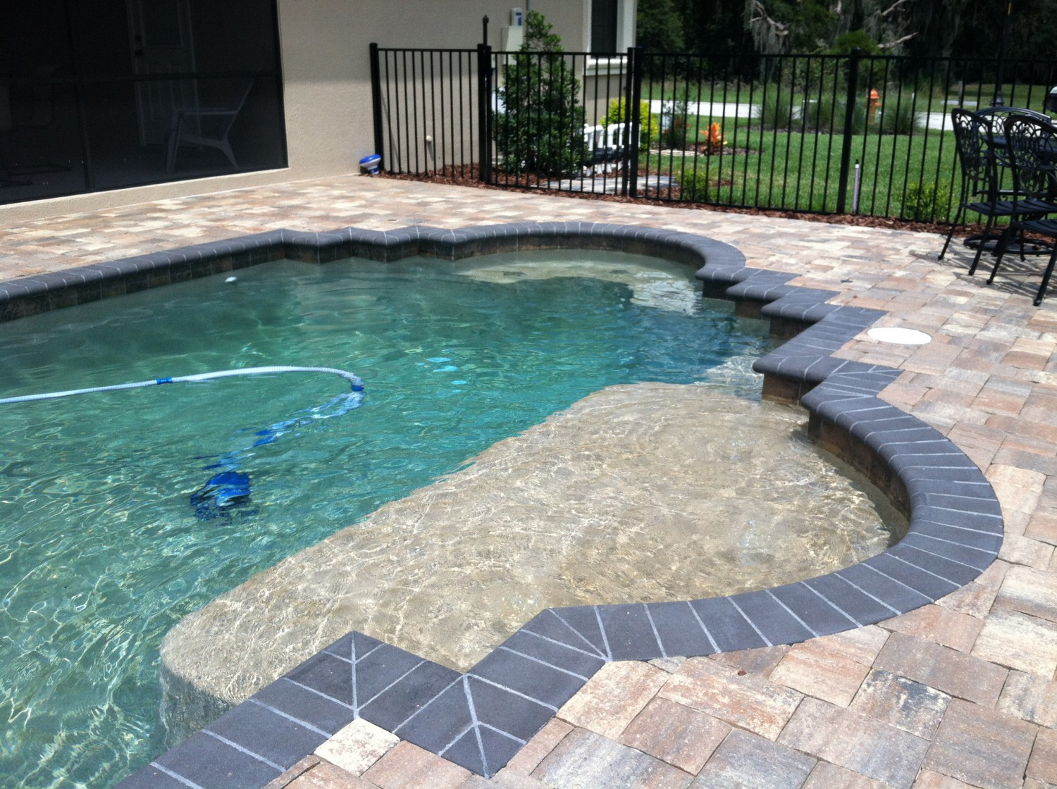 Custom inground pools lakeland fl pool blue inc for In ground pool backyard ideas